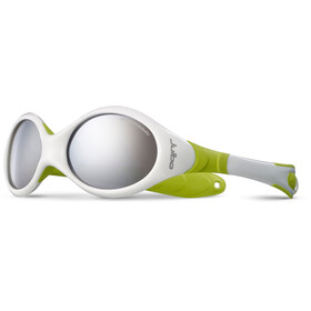 Julbo Looping III Spectron 4 Sunglasses Baby 2-4Y White/Lime Green-Gray Flash Silver
